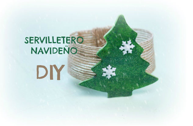 Servilletero DIY para Navidad. Christmas. Porcelana fría. Decoración navideña