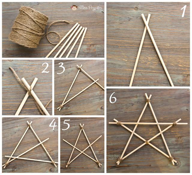 diy star estrella de madera