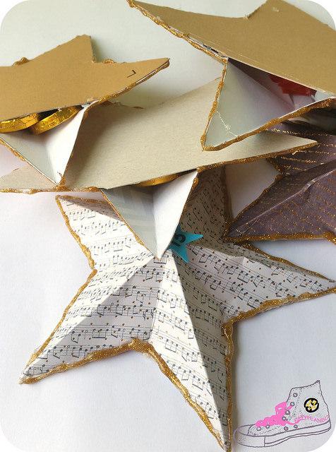 estrellas de papel con sorpresa
