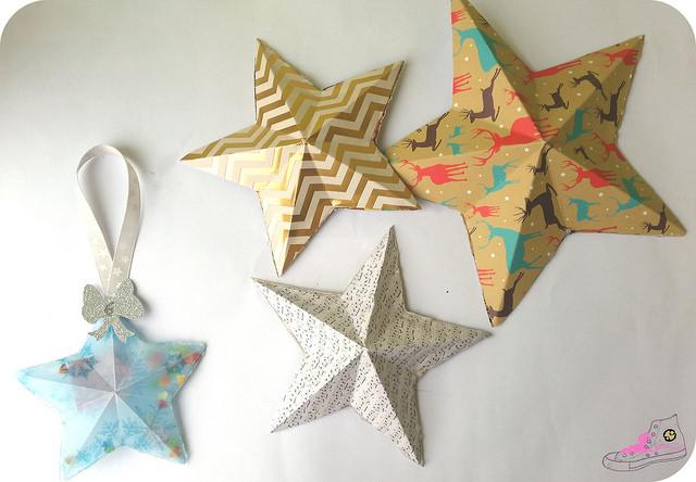 estrellas origami de papel