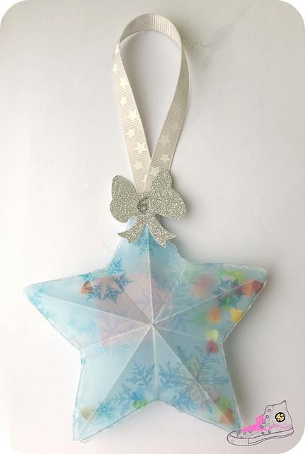 estrella con confeti