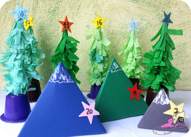 bosque diy de papel