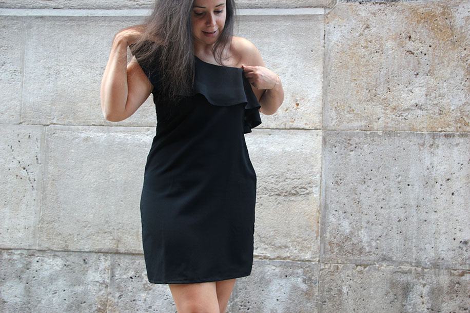 DIY Tutorial y patrones vestido con volante para mujer - Handbox ...