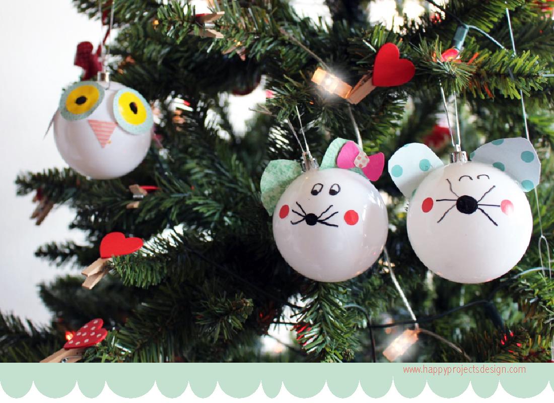 675dbdf03cd01 Árbol de navidad  Bolas de animales DIY - HANDBOX