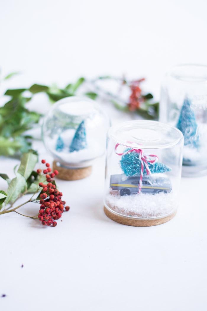 Bolas de cristal nieve navidad diy