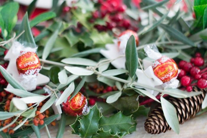 Centro de Mesa Navidad con bombones Lindor