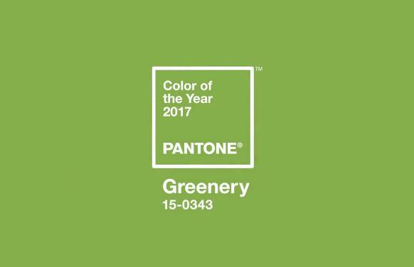 color de moda en decoración 2017 Pantone - greenery
