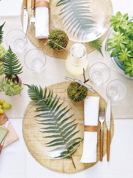 color de moda en decoracion 2017 pantone greenery - decoracion para mesa
