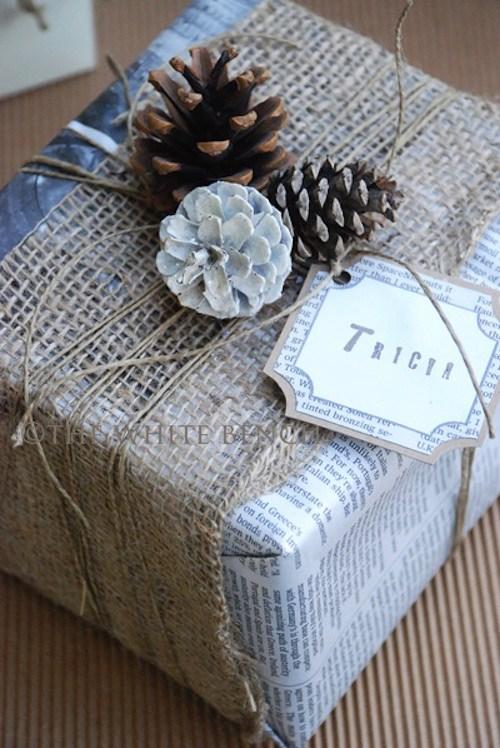 ideas de decoracin de navidad con papel de peridico