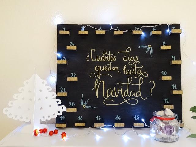 DIY- Calendario de Adviento Velas