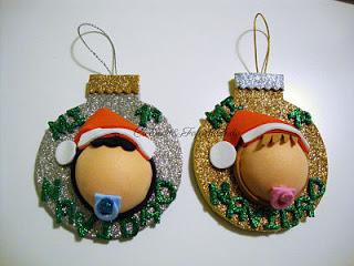 añadimos las letras mi 1ª navidad del adorno para el arbol en goma eva