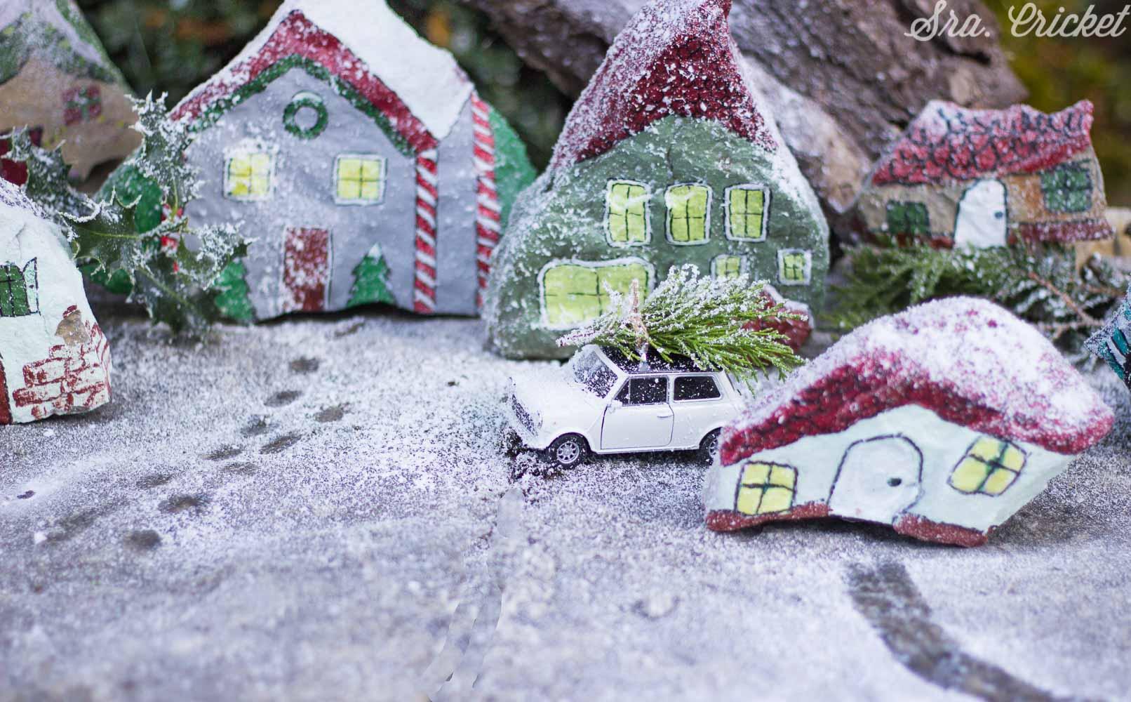 pueblo de navidad diy