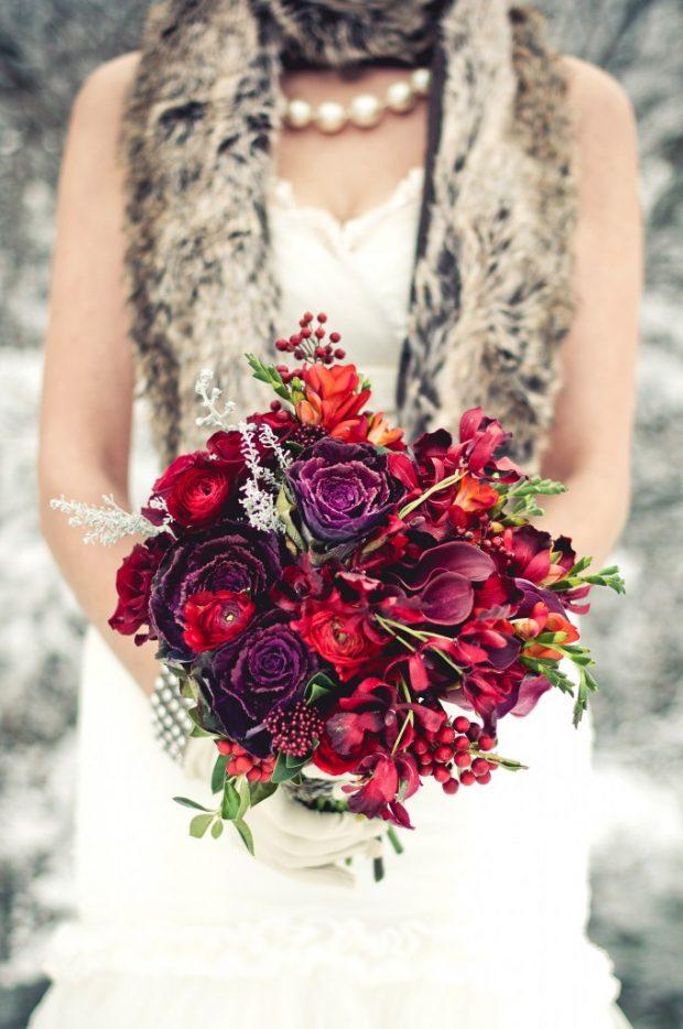 bouquet burdeos