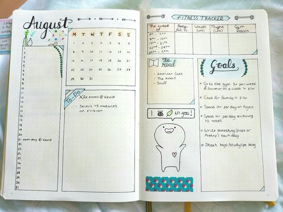 calendario-mensual-monthly-log-bullet