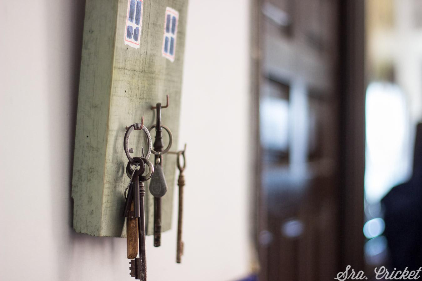 colgador de llaves casero