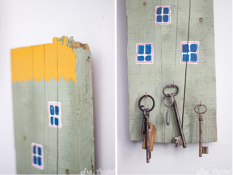 colgador de llaves hecho a mano