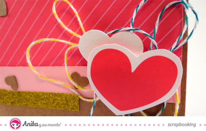 Detalle tarjeta de San Valentín scrap