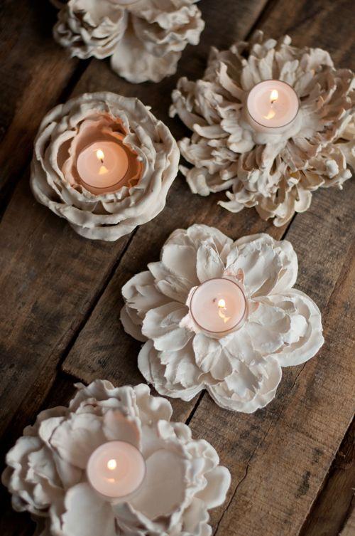 DIY: Yeso Sumergido de flores votivas | Diseño Mamá: