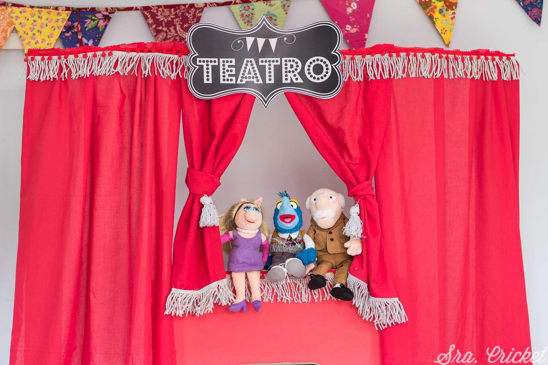 teatro de marionetas handmade