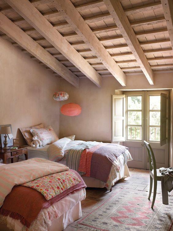 Decorar_un_dormitorio_infantil_en_estilo_rústico_claves