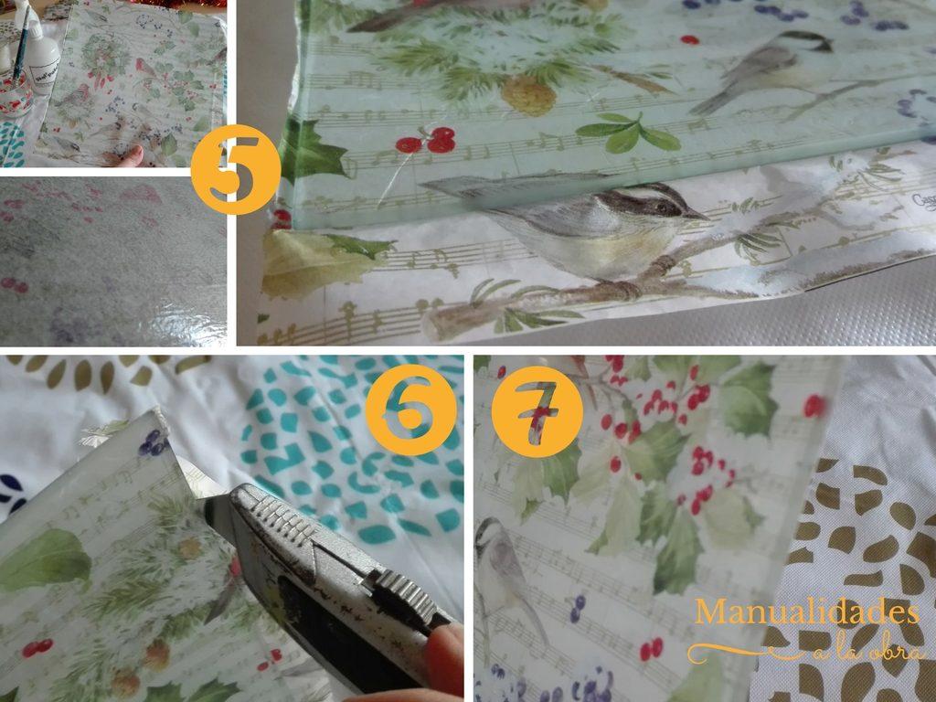 Retira el sobrante de papel