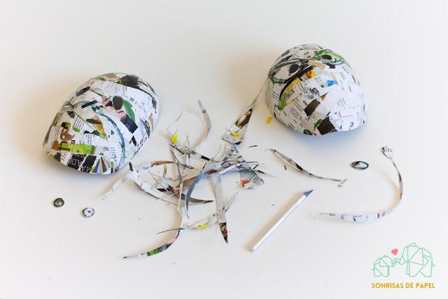 diy carnaval máscara papel globo