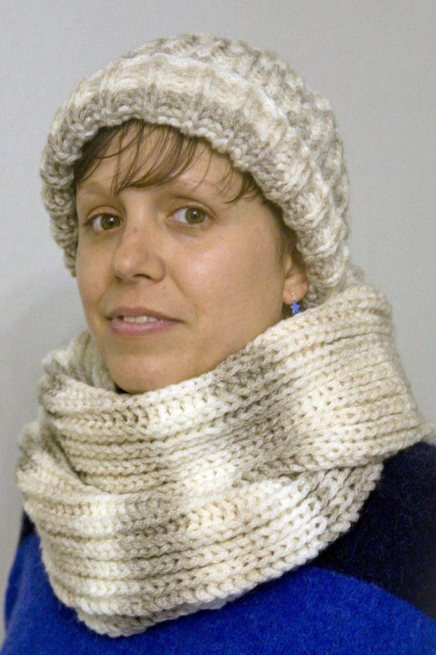 Patrones fáciles para tejedoras novatas: gorro y bufanda - Handbox ...