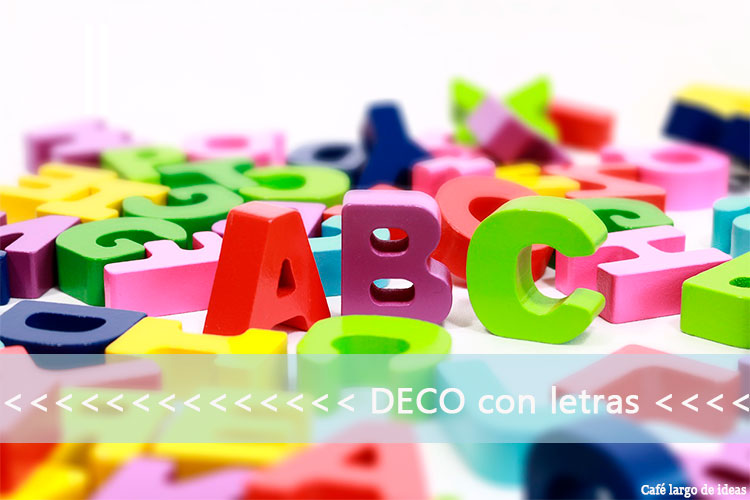 Ideas con letras decoradas