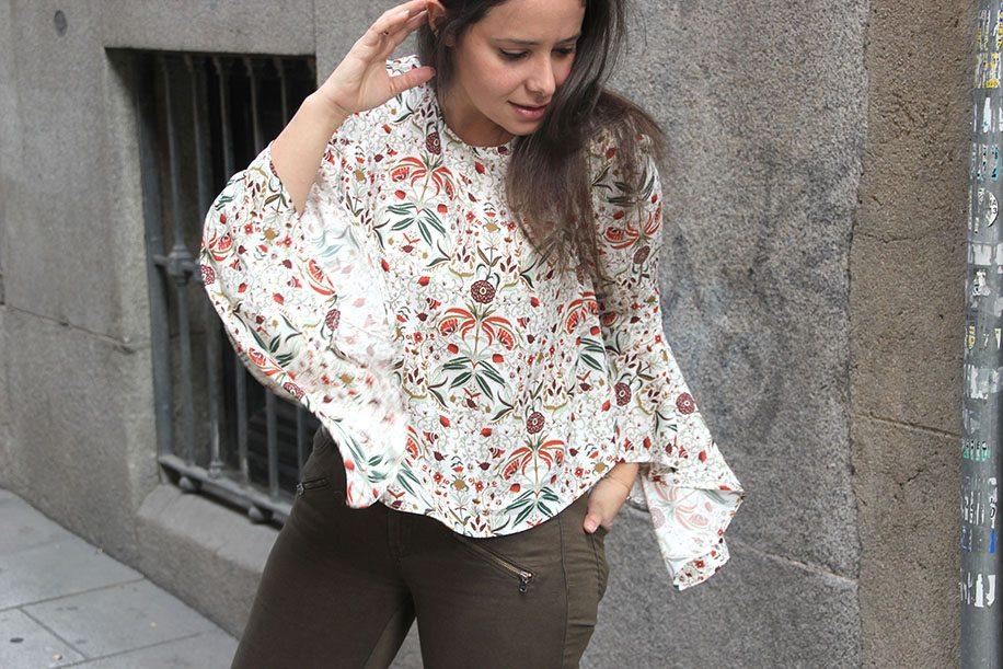 DIY Blusa de mujer con manga japonesa (patrones gratis) - Handbox ...