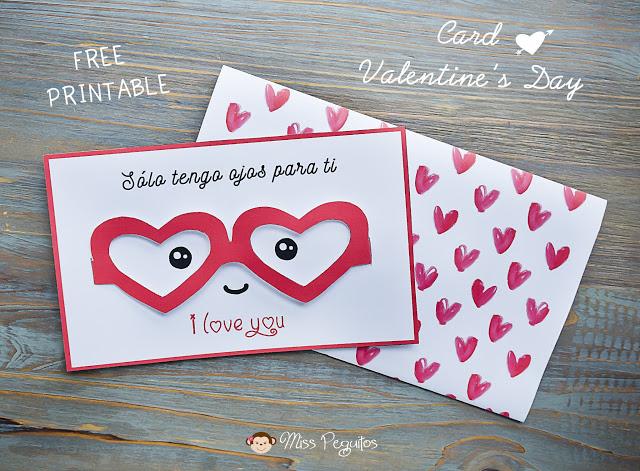 diy tarjeta san valentin valentine
