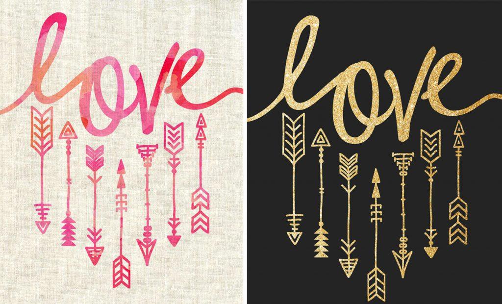 Imprimibles de san valentin gratis - imprimible de flechas en 2 versiones