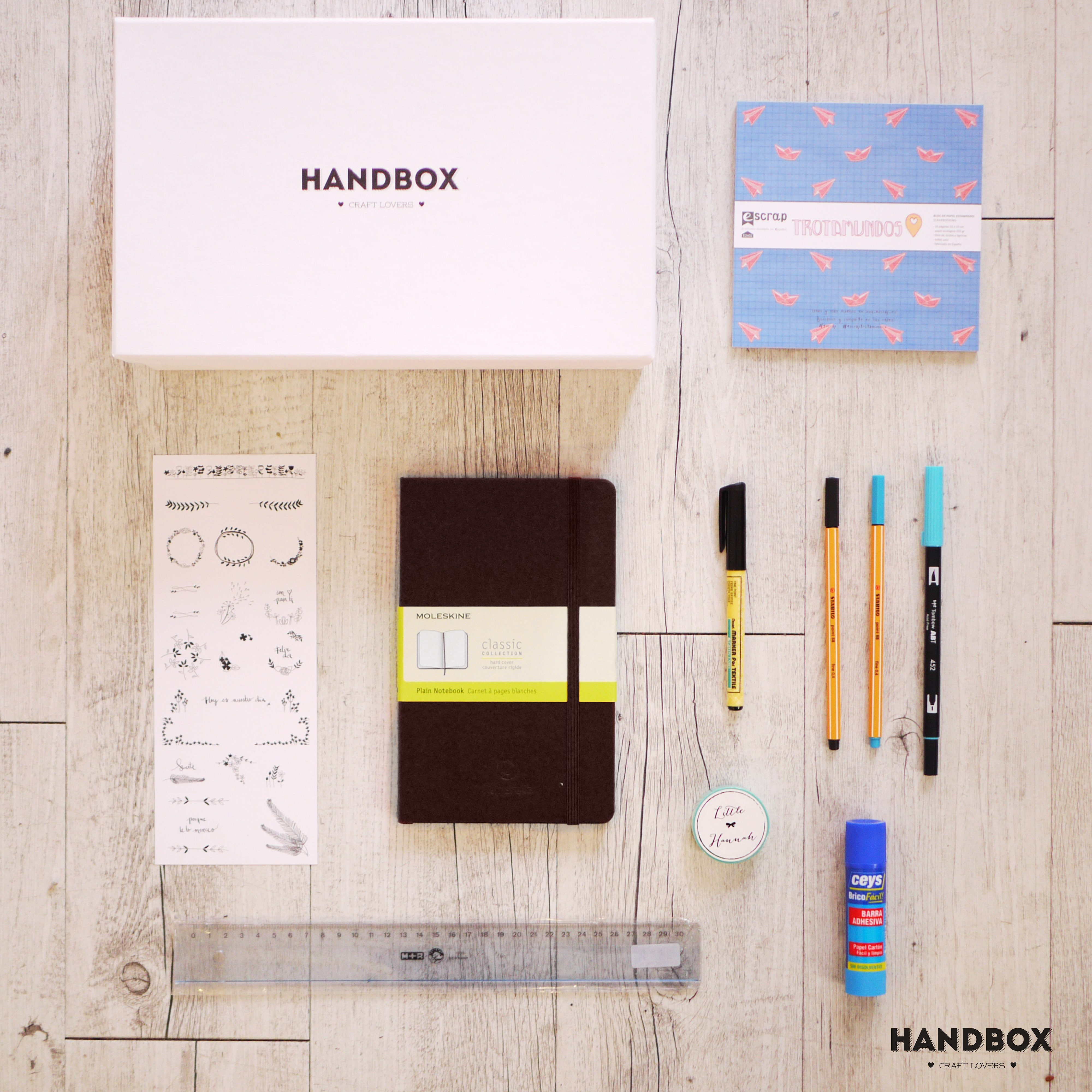 kit bullet journal materiales 1