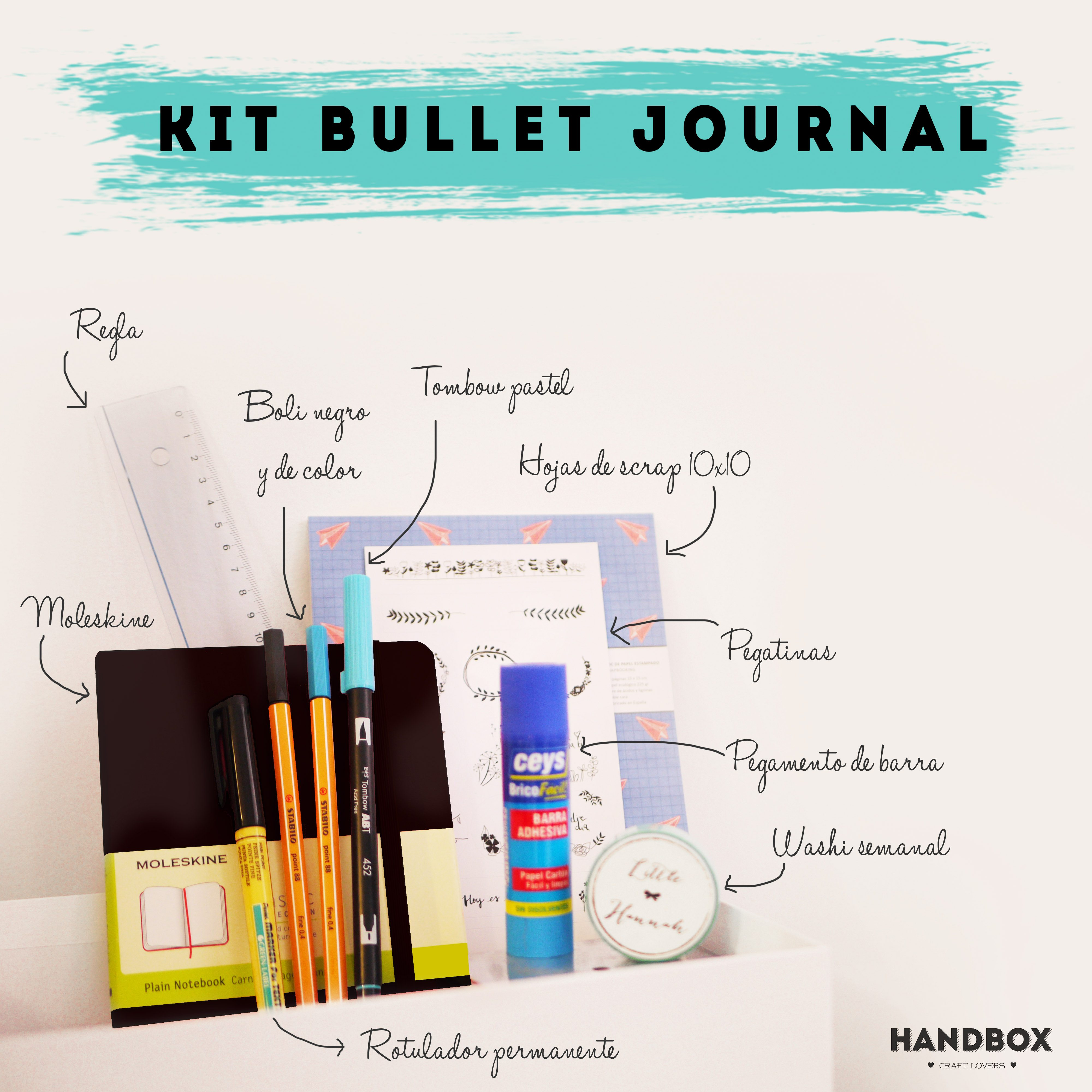 kit bullet journal materiales 3