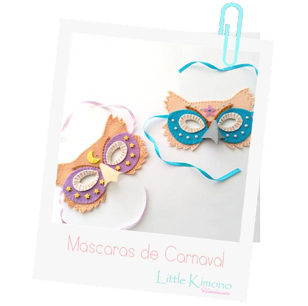 Máscaras de Carnaval - Buhos - Handbox Craft Lovers   Comunidad DIY ...