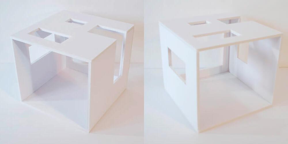 mini casita para regalar en san valentin, casa de muñecas moderna