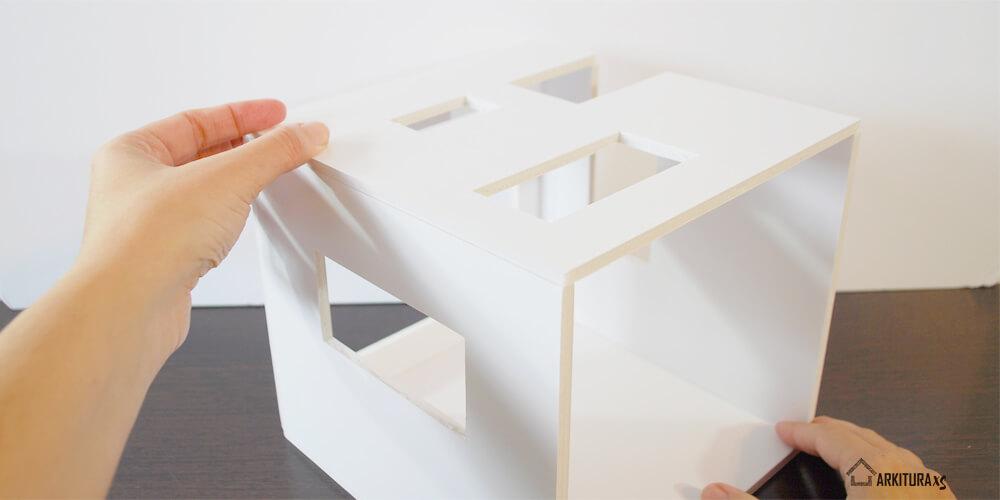 casita de muñecas moderna, mini casita para regalar en san valentin