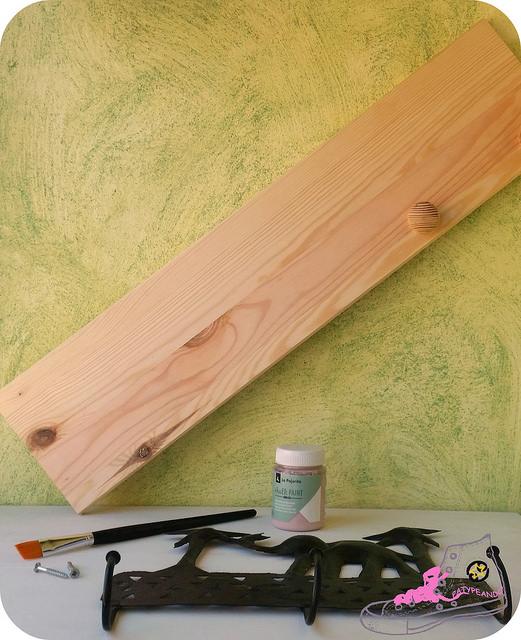 combinar perchero de madera con metal