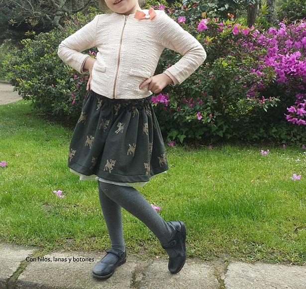 Con hilos, lanas y botones: Falda Bambis