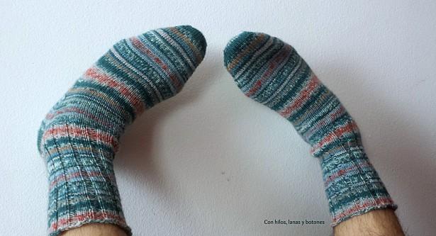 Con hilos, lanas y botones: Calcetines para papá (Toe-Up Faux Heel FlapSocks)