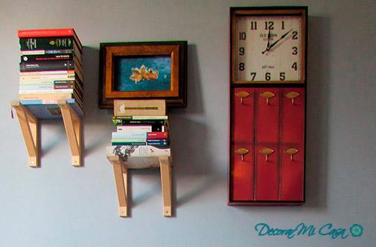 Reloj y libros para decorar un escritorio