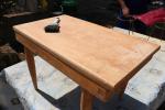 Restaurando una mesa con decoupage y eggshell