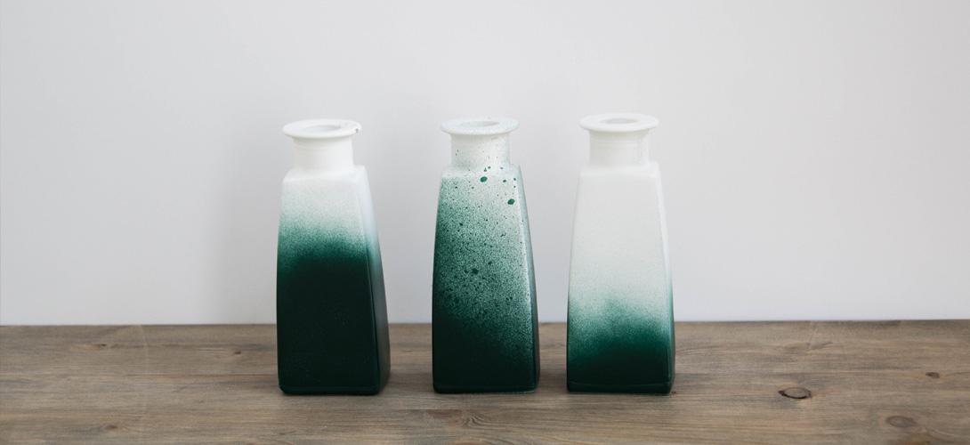 jarrones DIY - pintados en diferentes efectos