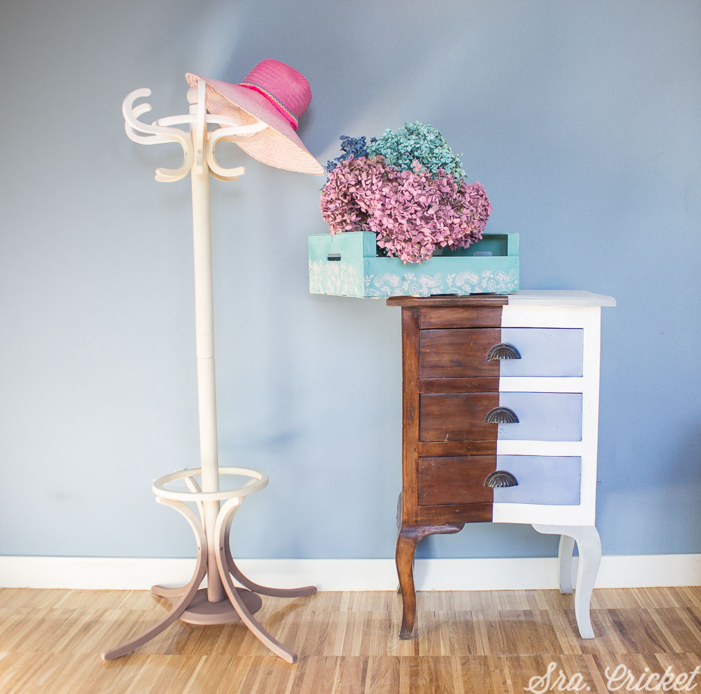 pintar mueble con chalk paint spray