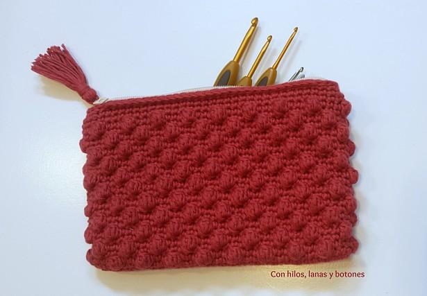 Con hilos, lanas y botones: Neceser