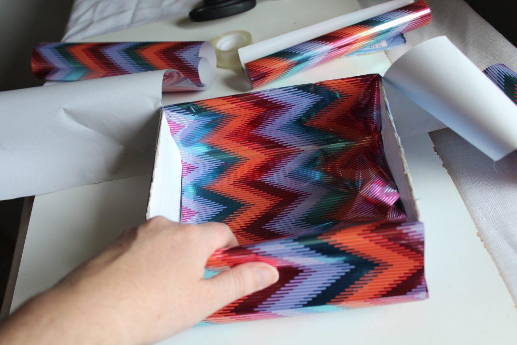 Costurero DIY - Paso 4 - Cortar y forrar separadores del costurero 2