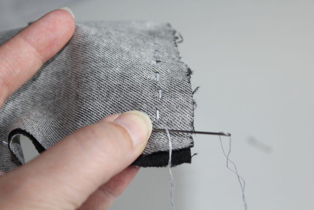 Costurero DIY - Paso 5 - Coser rectangulo de tela para alfiletero