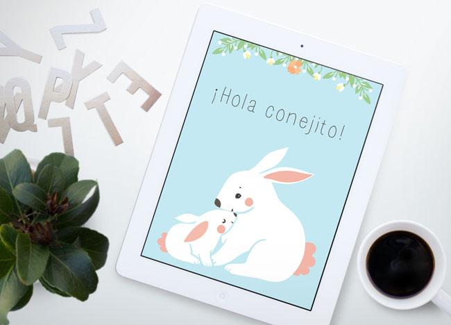 lamina-gratuita-conejos-primavera-azul
