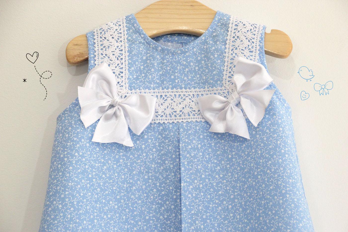 02cc034f6 DIY Costura: Como hacer vestido para niñas con lazos (patrones ...