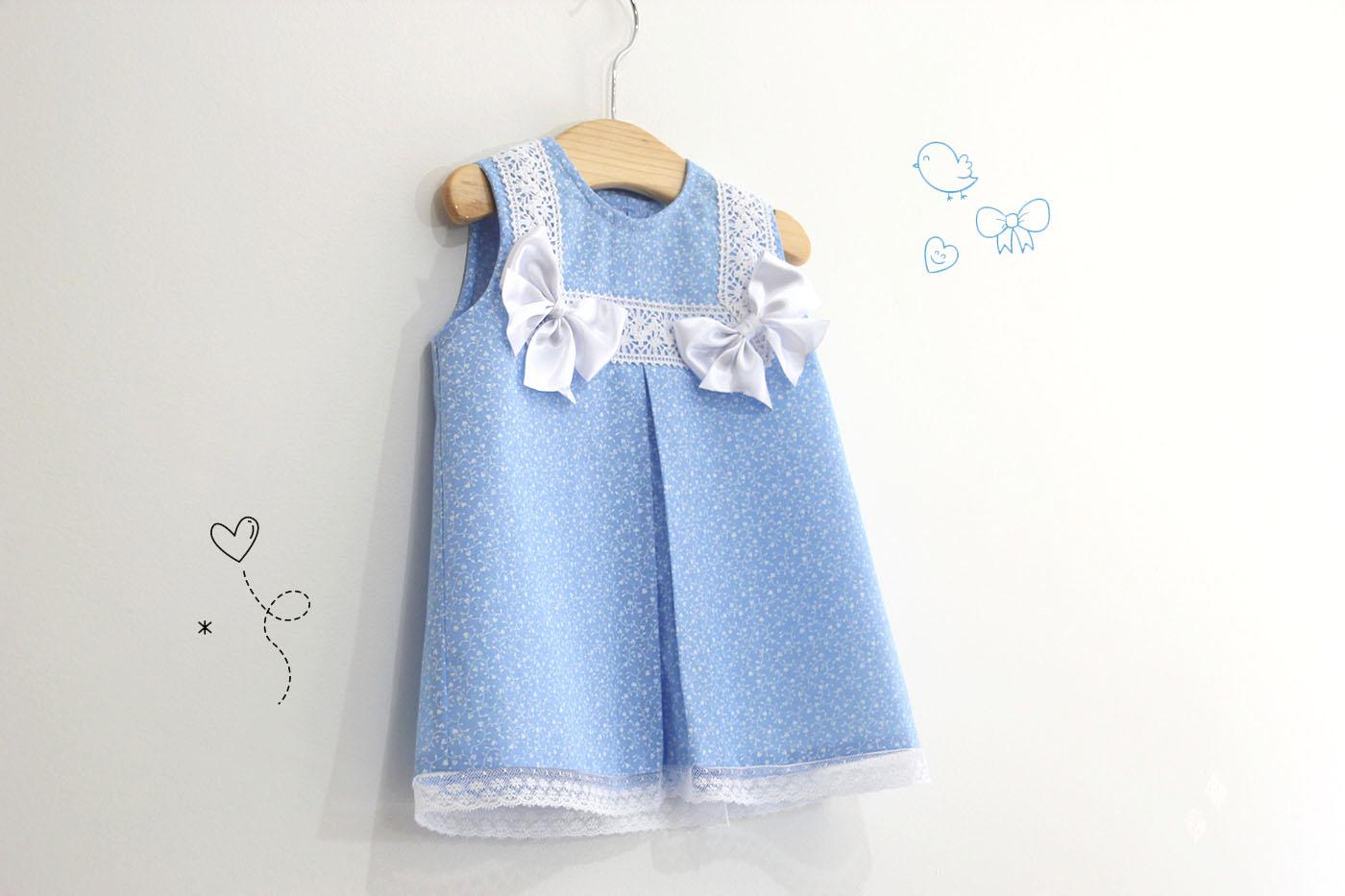 DIY Costura: Como hacer vestido para niñas con lazos (patrones ...
