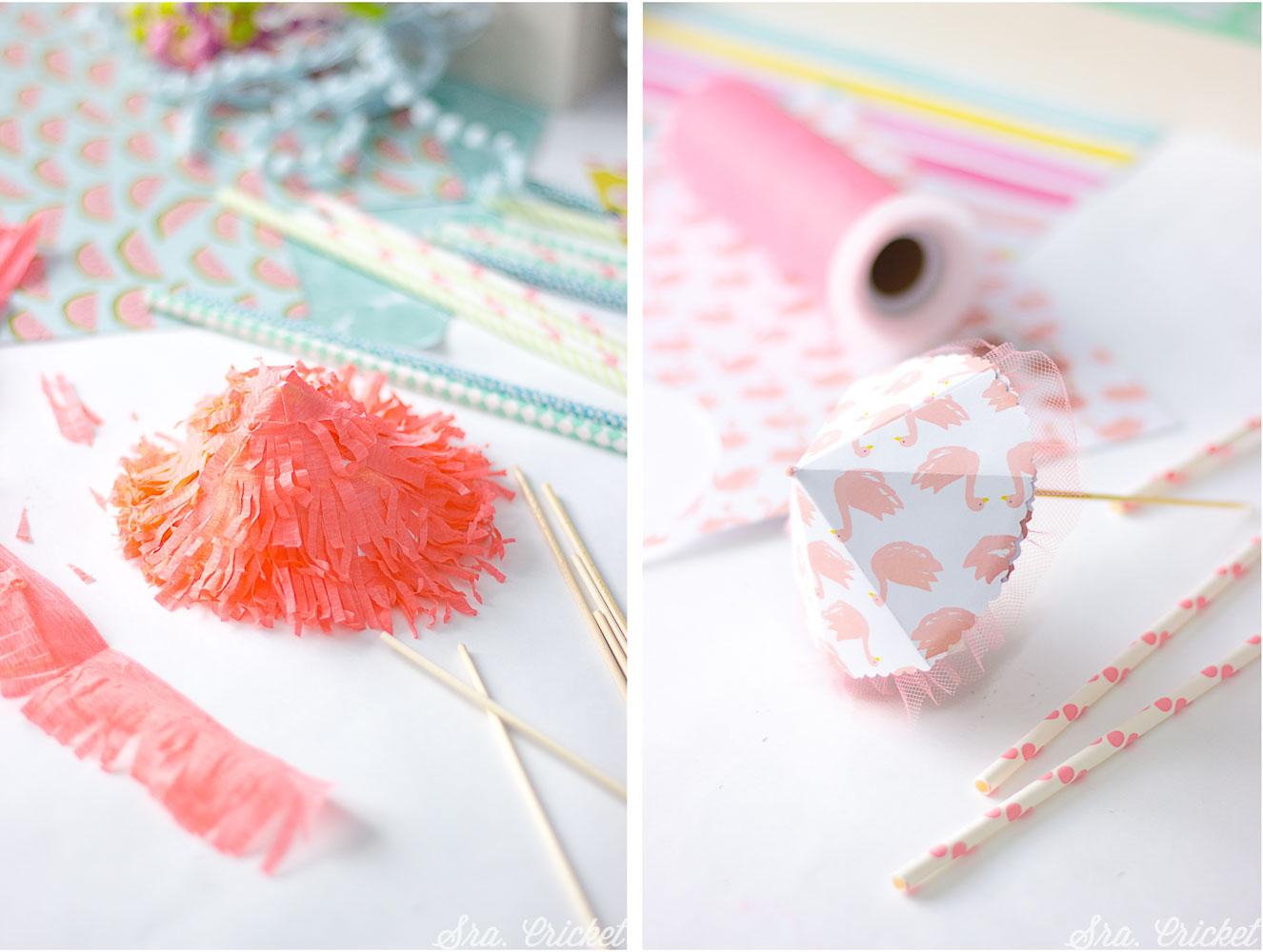 hacer sombrillas de papel